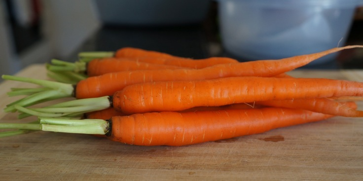 Carrots for soup from http://pleasepassthepeas.com